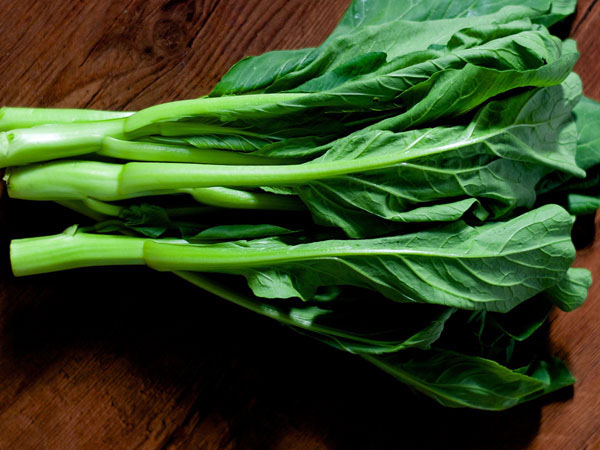 Choi sum asian greens